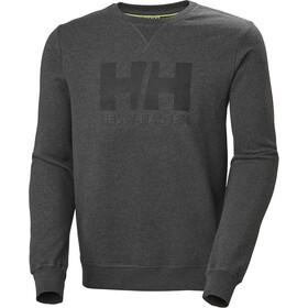 Helly Hansen HH Logo Crew Trui Heren, ebony melange